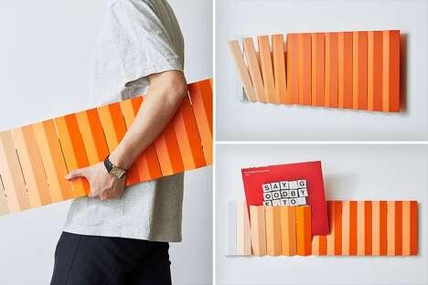 Multipurpose Clothes-Peg Wall Shelves