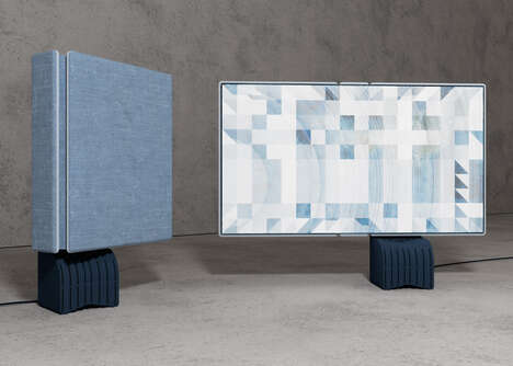 Space-Saving Foldable Televisions