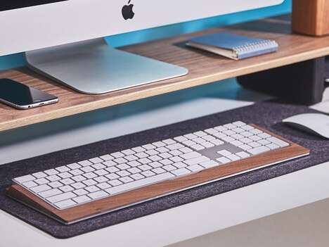 Timber Peripheral Desktop Trays