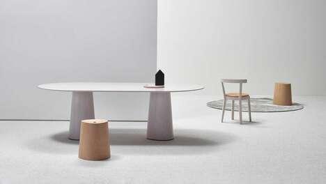 Curvaceous Pedestal Tables