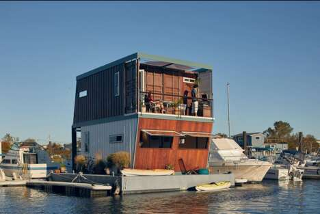 Shipping Container House-Boats