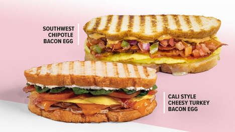 Savory Breakfast Panini Sandwiches
