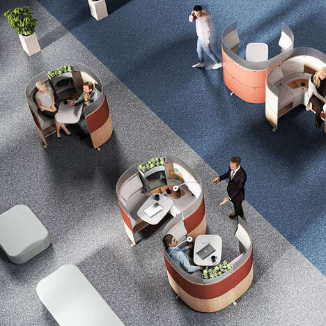 Cubicle-Inspired Office Pod Systems