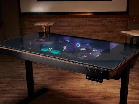 See-Through Gaming PC Desks