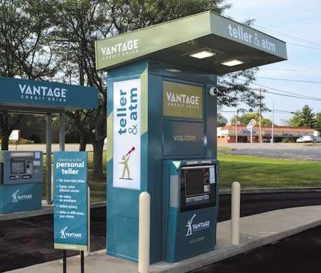 Contactless Interactive Bank Machines