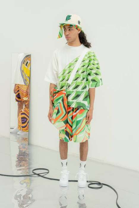 Vibrant Psychedelic Themed Apparel