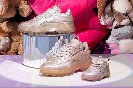 Rapper-Backed Tonal Footwear