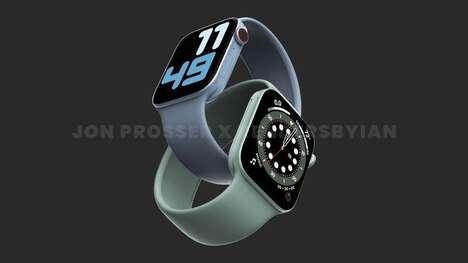 Sleek Flat-Edged Smartwatches