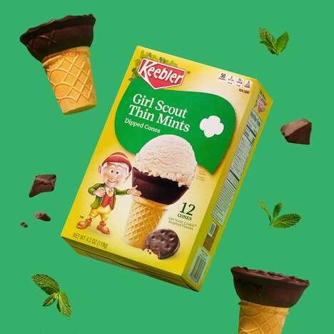 Fudge-Dipped Ice Cream Cones