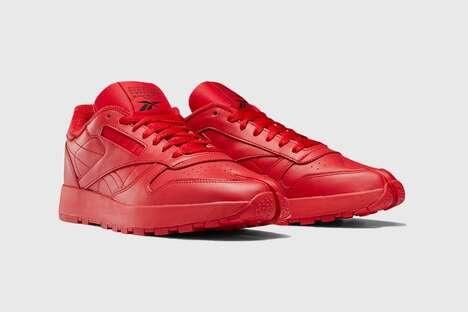 Bright Red Split-Toe Sneakers
