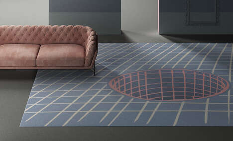 Optical Illusion-Enhanced Rugs