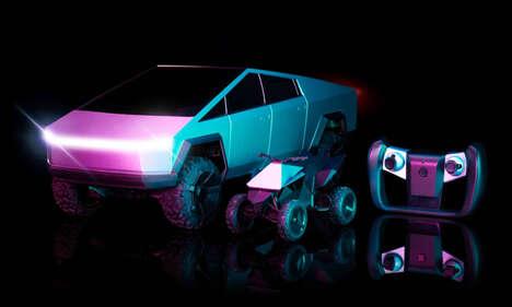 Futuristic Remote-Controlled Vehicle Toys