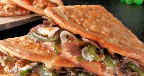 Parmesan-Crusted Flatbread Sandwiches