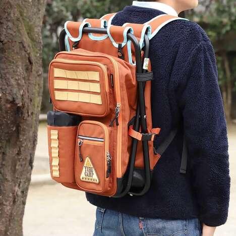Anime-Inspired Hybrid Hiking Backpack