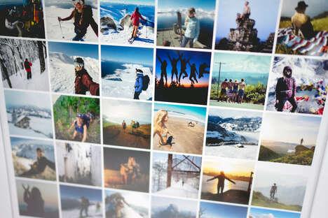 Social Media-Like Grid Posters
