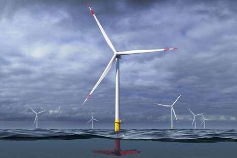 Floating Aquatic Wind Turbines