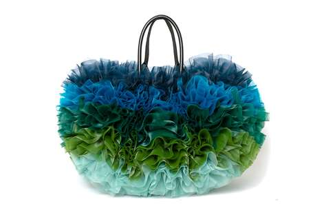 Vibrant Ruffled Carrying Designs