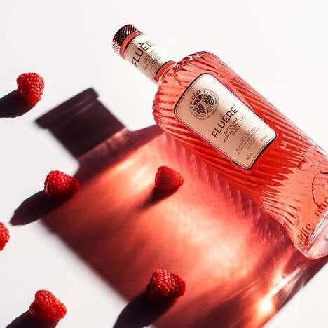 No-ABV Raspberry Cocktails