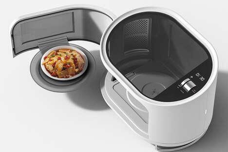 Demure Dish-Serving Microwaves