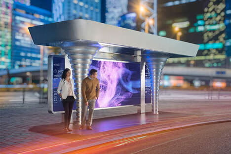 Air-Purifying Urban Bus Shelters