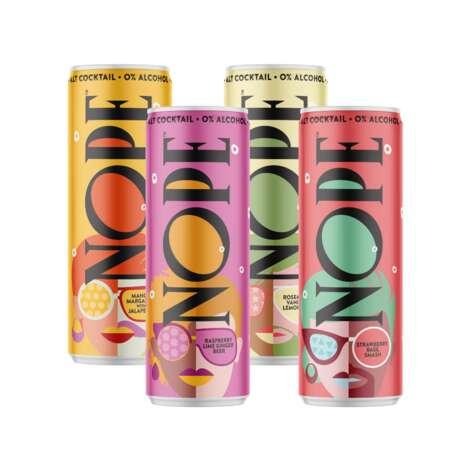 Sparkling Non-Alcoholic Cocktails