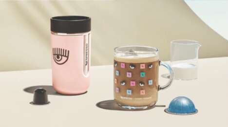 Playful Pink-Accented Coffee Lines