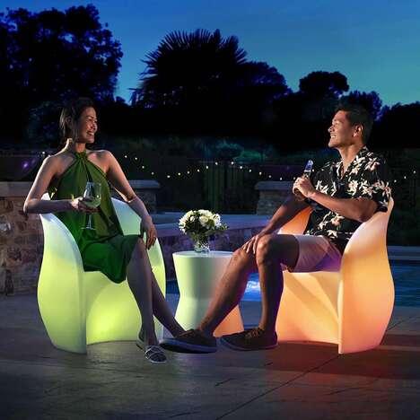 Ambient Lighting Outdoor Seats
