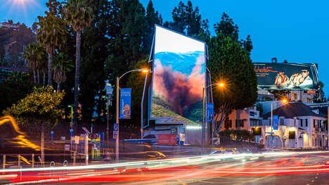 Three-Sided Futuristic Billboards