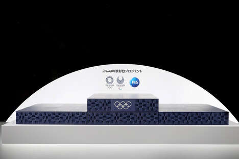 Recycled Plastic Olympic Podiums