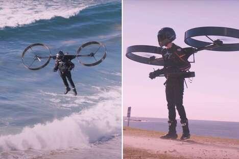 Wearable Quadcopter Transport Packs