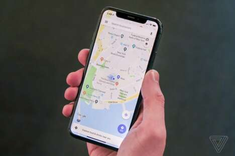 Mobile Map-App Transit Features