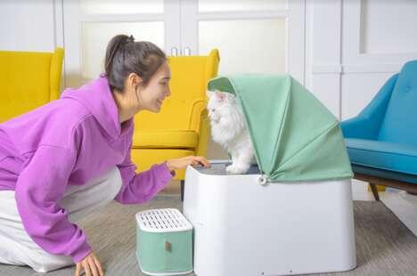 Modern Cat Litter Cubes