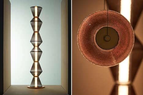 Stackable Metallic Modular Lamps