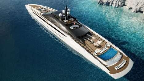Sleek Resort-Inspired Superyachts
