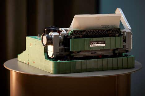 Building Block-Made Typewriters