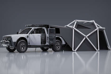 Tent-Equipped Electric Adventure Vehicles