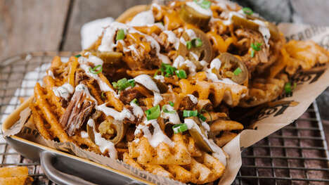 Pulled Pork-Topped Waffle Fries