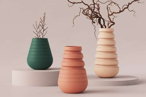 Accordion-Shaped Expanding Planters