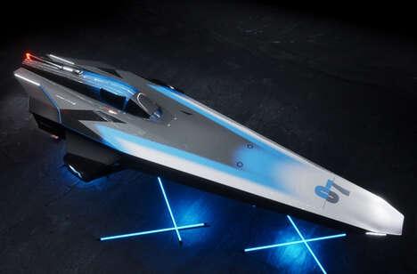 Avian-Inspired Aquatic Powerboats