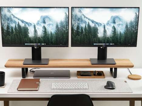 Expansive Workstation Monitor Stands
