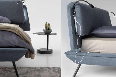 Sleek Tech-Equipped Bed Frames