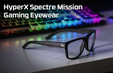 Stable Blue Light-Blocking Glasses