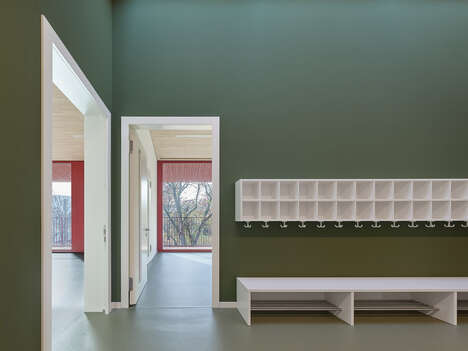 Rectangular Red Daycare Centers