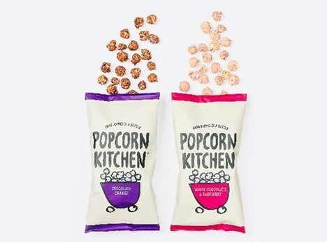 Full-Bodied Popcorn Snacks