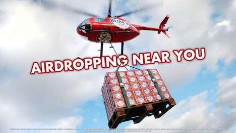 Aerial-Delivery Refreshing Beers