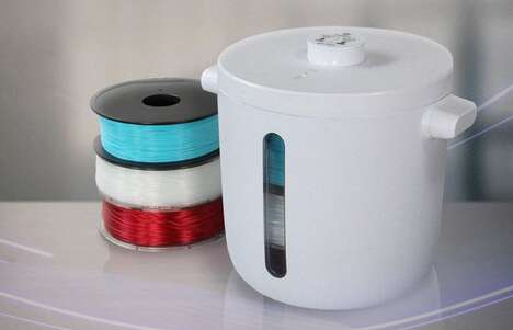 Pressurized Printing Filament Containers