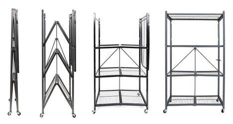 Four-Level Foldout Shelving Units