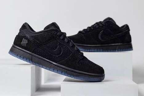 Tonal Black Suede Sneakers