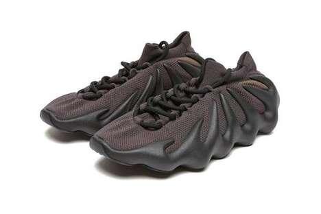 Dark Tonal Futuristic Footwear