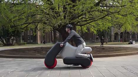 Compact Inflatable Motorcycles